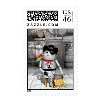 Little Robo-x9 for  Talk Like A Pirate Day Postage Stamp