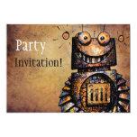 Little Robot 5x7 Paper Invitation Card