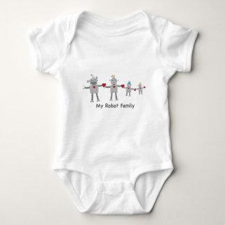 Little Robot Family Baby Bodysuit