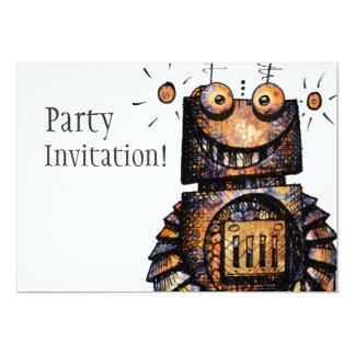 "Little Robot 5"" X 7"" Invitation Card"