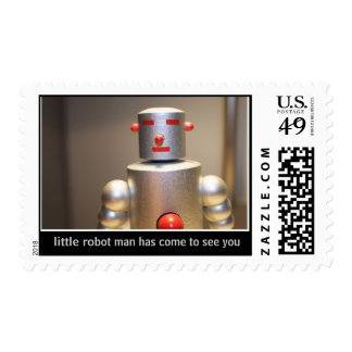 Little Robot Man Is Stuck Postage Stamps