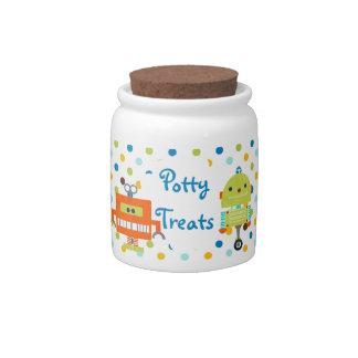 Little Robot Polka Dot Potty Treats Reward Candy Jars