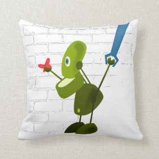 Little Robot Throw Pillow