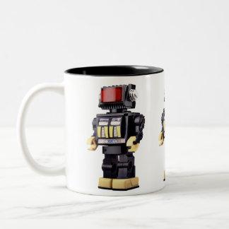 Little Robot x3 Two-Tone Coffee Mug
