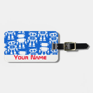 Little robots bag tag