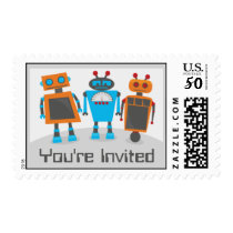 Little Robots Birthday Party Postage