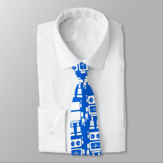 Little robots neck tie