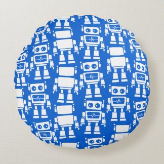 Little robots round pillow