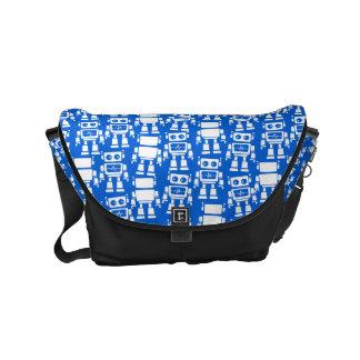 Little robots small messenger bag