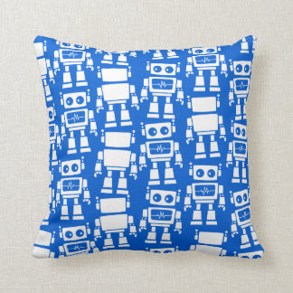 Little robots throw pillow