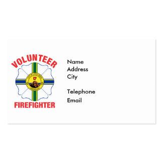 Little Rock, AR Flag Volunteer Firefighter Cross Business Card