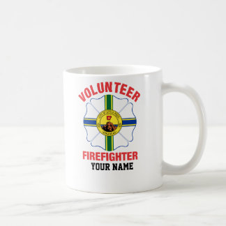 Little Rock, AR Flag Volunteer Firefighter Cross Coffee Mug