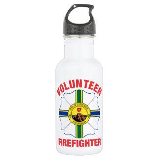 Little Rock, AR Flag Volunteer Firefighter Cross Water Bottle