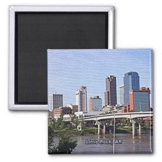 Little Rock, Arkansas 2 Inch Square Magnet