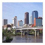 "Little Rock, Arkansas 5.25"" Square Invitation Card"