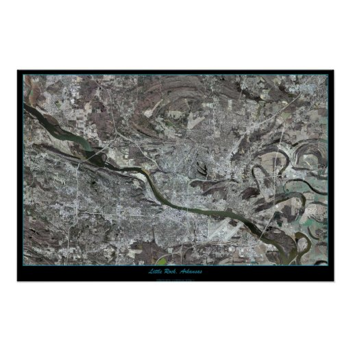 Little Rock, Arkansas del poster del satélite del