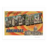 Little Rock, Arkansas - escenas grandes de la letr Tarjeta Postal
