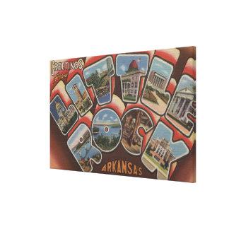 Little Rock, Arkansas - Large Letter Scenes 2 Canvas Print