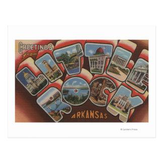 Little Rock, Arkansas - Large Letter Scenes 2 Postcard