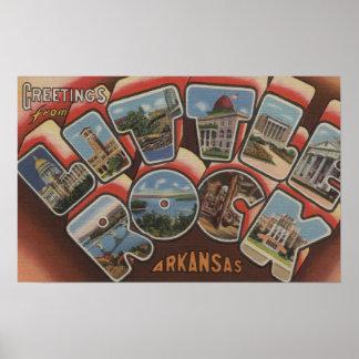 Little Rock, Arkansas - Large Letter Scenes 2 Poster