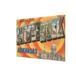Little Rock, Arkansas - Large Letter Scenes Canvas Prints