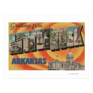 Little Rock Arkansas - Large Letter Scenes Postcard