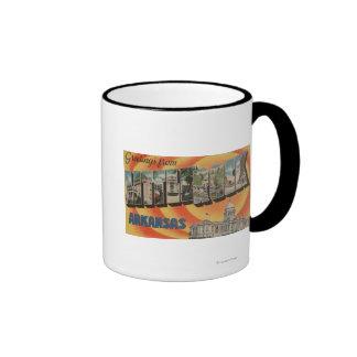 Little Rock, Arkansas - Large Letter Scenes Ringer Mug