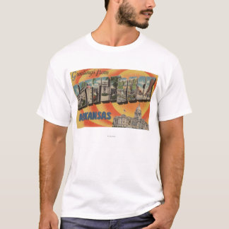 Little Rock, Arkansas - Large Letter Scenes T-Shirt