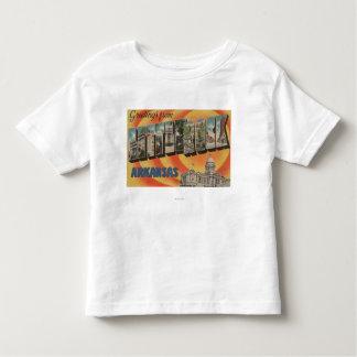 Little Rock, Arkansas - Large Letter Scenes T Shirt