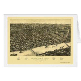 Little Rock, Arkansas Panoramic Map - 1887 Greeting Card