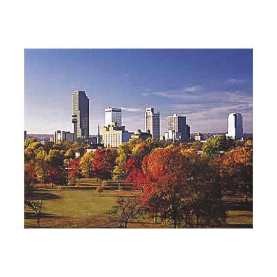 Little Rock Arkansas Skyline Canvas Print