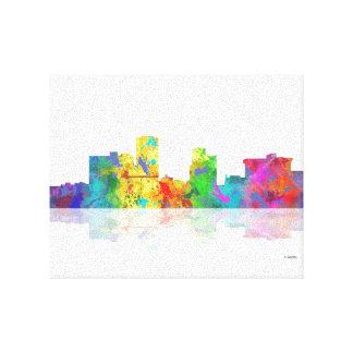 LITTLE ROCK,ARKANSAS SKYLINE-Stretch Canvas Print