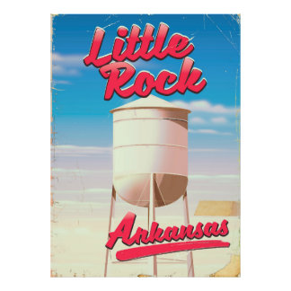 Little Rock, Arkansas vintage travel poster