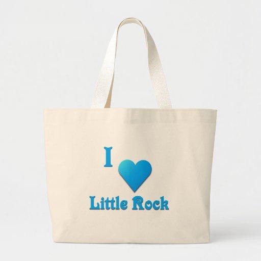 Little Rock -- Azul de cielo Bolsa Tela Grande