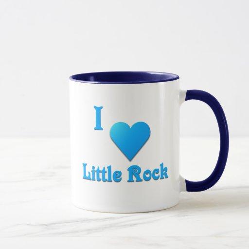 Little Rock -- Azul de cielo Taza