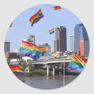 Little Rock Flying Pride Classic Round Sticker