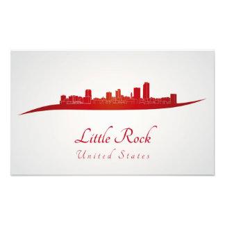 Little Rock skyline in network Photo Print