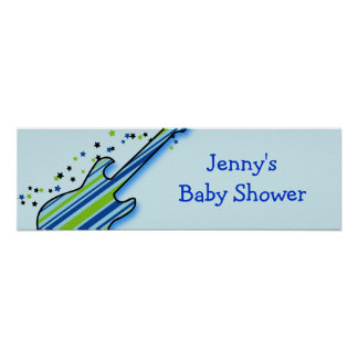 Little Rock Star Baby Shower Banner Sign
