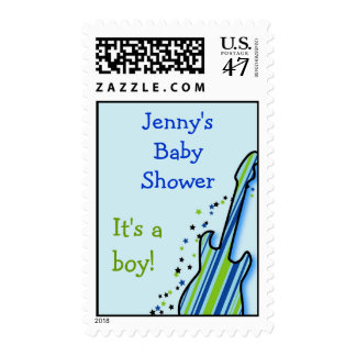 Little Rock Star Baby Shower Postage Stamps