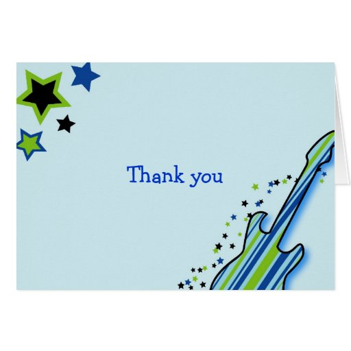 Little Rock Star Boys Thank You Note Cards