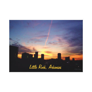 Little Rock Sunset Canvas Print