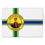 Little Rock, United States flag Card
