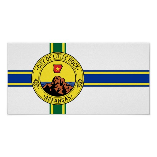 Little Rock, United States flag Poster