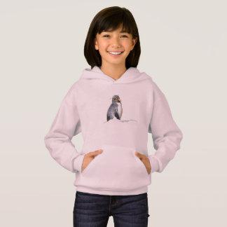 Little Rockhopper Penguin Pink hoodie for girls.