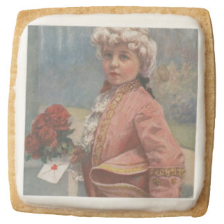 "Little Romeo ""To My Valentines"" Square Shortbread Cookie"