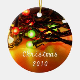 Little round lights ceramic ornament