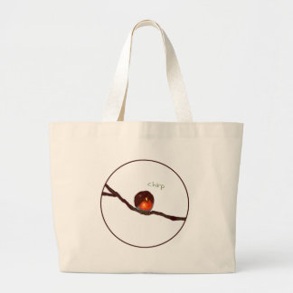Little round Robin chirping chirp Bag