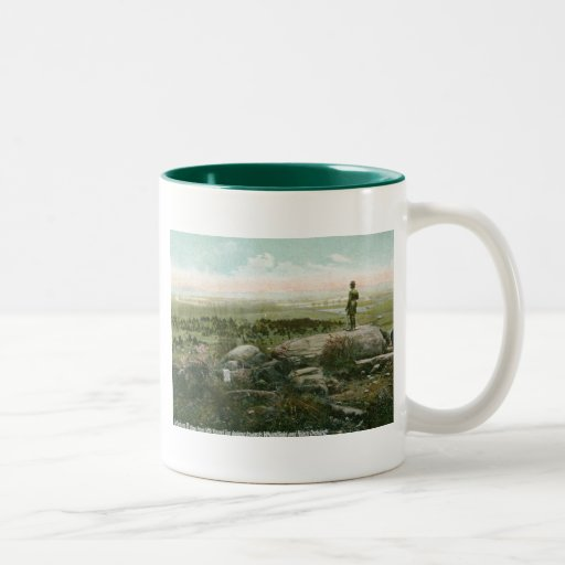 Little Round Top, Gettysburg Battlefield Vintage Mugs