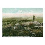 Little Round Top, Gettysburg Battlefield Vintage Postcard