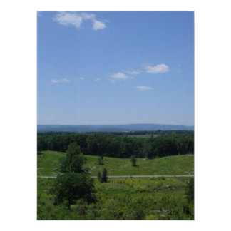 Little Round Top Panorama 3 Print
